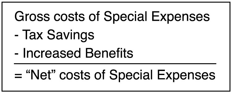 "Image of formula for ""Net"" Special Expenses"