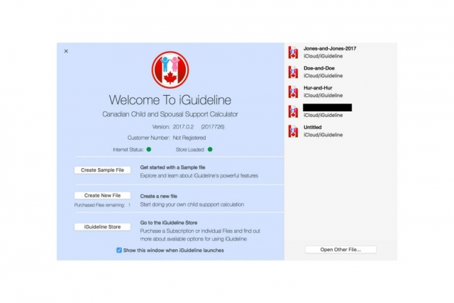 Image of iGuideline Welcome Window