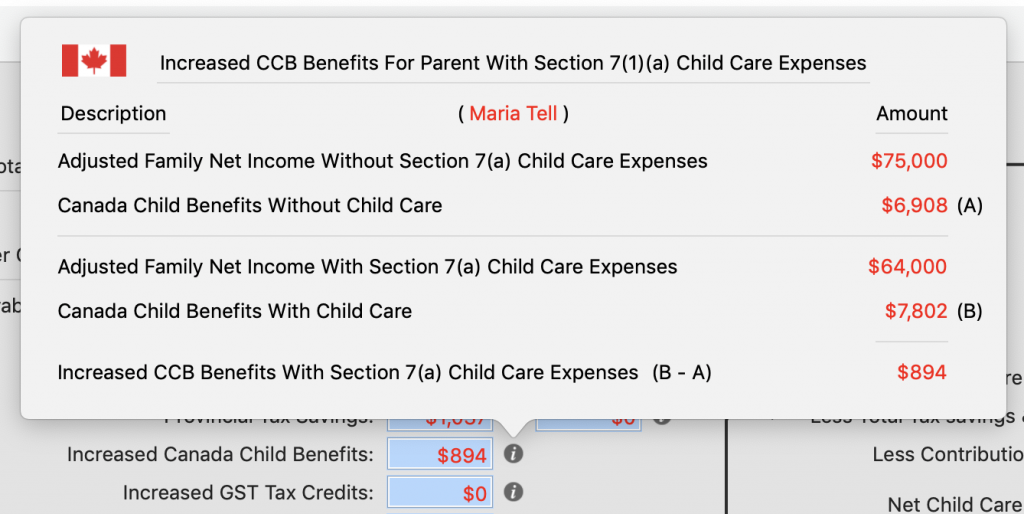 Increased CCB Details for Marie With New Spouse / Common Law